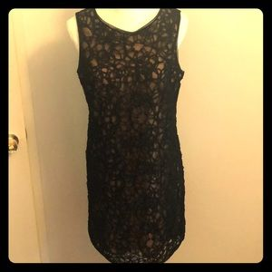 Black see through sparkly cocktail dress By Max